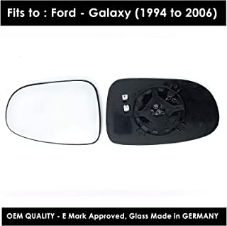 Passenger left hand side Heated wing door Silver mirror glass with backing plate #C-SHY//L-FDGY95 Clip On