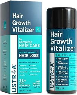USTRAA Hair Growth Vitalizer - Boosts hair growth, Prevents hair fall- Hair Oil With Redensyl, Saw Palmetto, Wheatgerm & J...