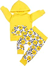 Kids Toddler Infant Baby Boys Girls Fall Outfit Floral Pocket Hoodie Sweatshirt Jackets Shirt+Pants Winter Clothes Set