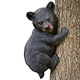 Bits and Pieces - Baby Bear Up a Tree Garden Peeker - Tree Hugger - Outdoor Tree Sculpture - Gifts and Garden Décor Tree Hugger Faces for Trees - Bear Cub Resin Sculpture, 13-3/4' Long x 8' Wide