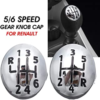 5/6 Speed Car Gear Knob Cap Cover Shift Lever Head Cover for Renault Clio Twingo Scenic Megane II 1996-2011 5 Speed