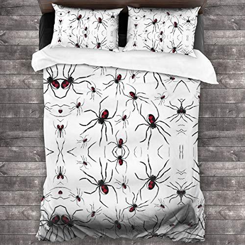Muster mit giftigen Spinnen 3 Stück Bettwasche Set Bettbezug Kissenbezug 86 x 70 Zoll