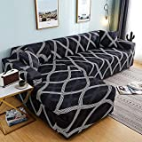 MKQB Funda de sofá retráctil Flexible, Funda de sofá Antideslizante con combinación de Esquina en Forma de L para la decoración del hogar, Sala de Estar N ° 10 L (190-230cm)