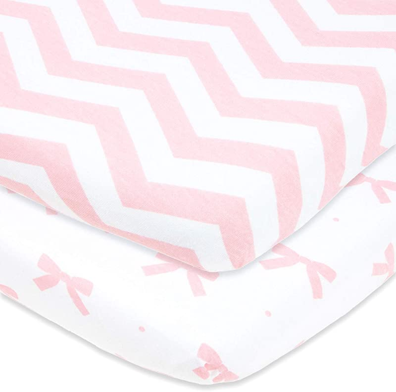 Cuddly Cubs Fitted Pack N Play Sheets Compatible With Graco Guava Lotus Playard And Other Playpen Play Yards Portable And Mini Crib Pink Pack And Play Sheets
