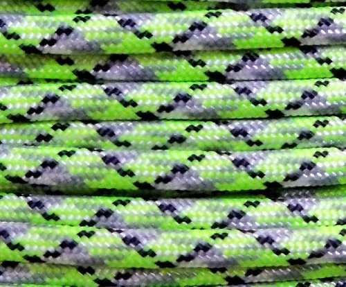 Bio Sludge 100' 550 Paracord - Paracord Hero Brand - Type III 7 Strand Paracord Choose Your Size USA Made