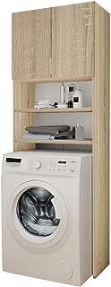 Selly Home Meuble de Rangement Machine a Laver - Meuble Colonne Salle de Bain - Etagere Rangement - Commode pour Machine a...
