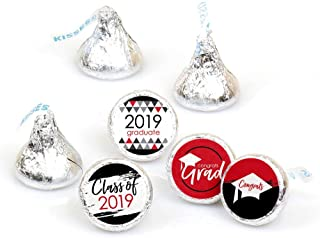 Red Grad - Best is Yet to Come - Red 2019 Graduation Party Round Candy Sticker Favors - Labels Fit Hershey's Kisses (1 Sheet of 108)