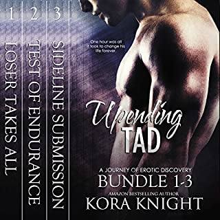 Upending Tad Bundle: Volumes 1, 2, 3     Upending Tad: A Journey of Erotic Discovery              By:                                                                                                                                 Kora Knight                               Narrated by:                                                                                                                                 Michael Pauley                      Length: 8 hrs and 46 mins     157 ratings     Overall 4.7