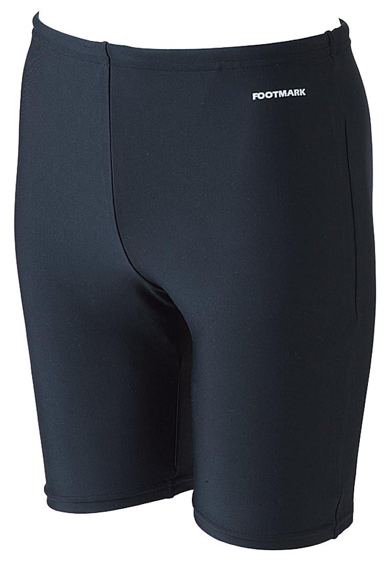吐くメッシュ反論者FOOTMARK(フットマーク) メンズ フィットネス スクール水着 トランクス ロングトランクス 101570 ブラック(09) 5L