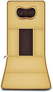 LKNJLL Memory Foam masaje estera con calor, 6 Terapia del cojín de calefacción, 9 vibración motores de masaje almohadilla del colchón, masaje de cuerpo completo del amortiguador aliviar el cuello, esp