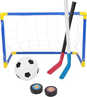 TOOGOO but de football net Football Soccer Goal Post 2.4x1.8m net match Entrainement sportif White Outdoor R