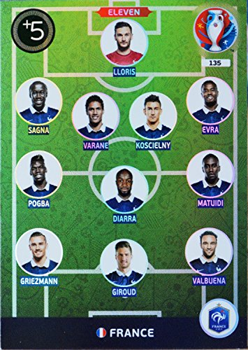 carte PANINI EURO 2016 #135 Eleven France