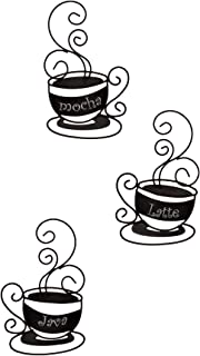 Collections-Etc Metal Coffee Cup Wall Art - Set of 3 , 9