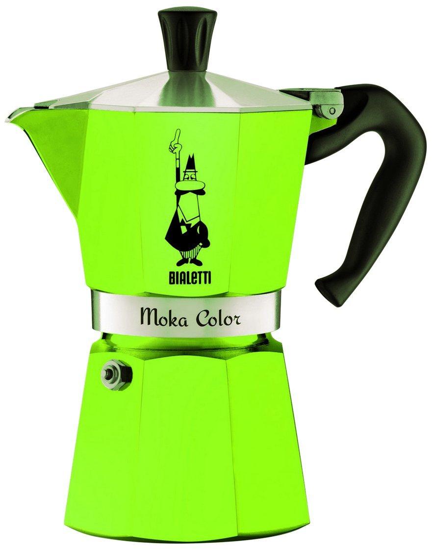 Bialetti 0009122 Cafetera Moka Express capacidad para 3 tazas aluminio, color verde: Amazon.es: Hogar