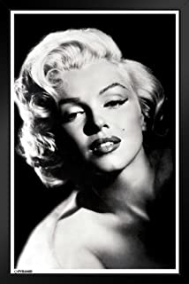Pyramid America Marilyn Monroe Glamour Hollywood Celebrity Actress Model Icon Photograph Photo Black Wood Framed Art Poster 14x20