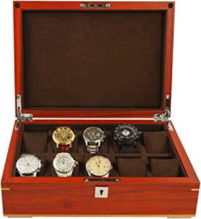 Wooden watch storage box 10 slot watch display case Jewellery Trinket Box creative simple retro Bangle Pillow Box Birthday...