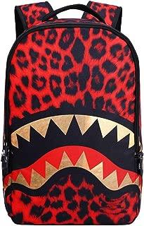 3D Skull Shark Leopard Face Print Backpack Teenager SchoolBag for Teens Boys