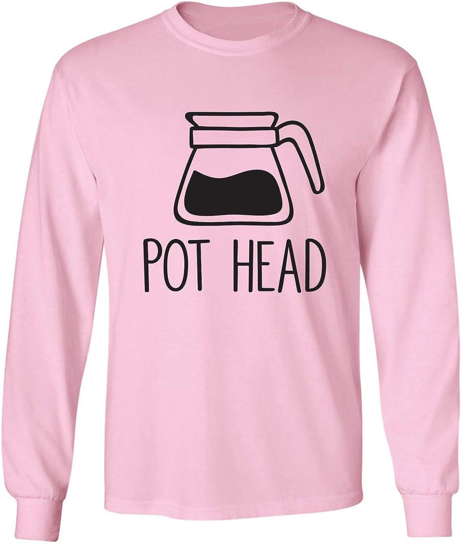 Coffee Pot Head Adult Long Sleeve T-Shirt