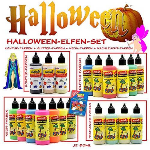 Play malmit® Window Color Halloween Set 20 Fenstermalfarben Fensterfarben Malfarben