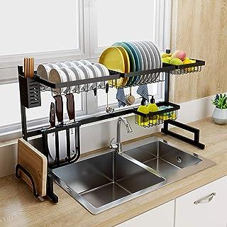 XIAOLOU-rack de lavage- Cuisine de vélo détachable Cuisine à la maison, Grand plat de vidange Racâtre de vidange sur l'évi...