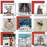 クリスマスカード 「ホワイト クリスマス」 141 九点セット Q