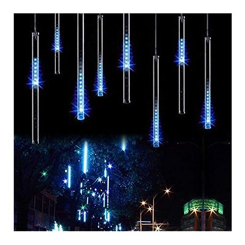 OMGAI Waterproof Meteor Shower Rain Lights - 30cm 8 Tubes Drop Icicle Snow  Falling Raindrop Cascading - LED Christmas Icicle Lights: Amazon.com