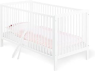 Pinolino - 11 14 75 - Kinderbett Lenny 140 x 70 cm - mit 3 Schlupfsprossen aus vollmassiver Kiefer, weiß lackiert