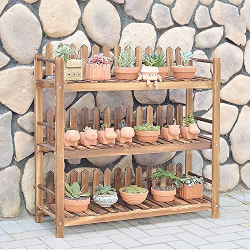 WOF Portafiori da Esterno -  Supporto for Piante a 4 Piani Succulente in Legno Fioriera Scaffale Fioriere Scaffale Portavasi, for Giardini, Verande,
