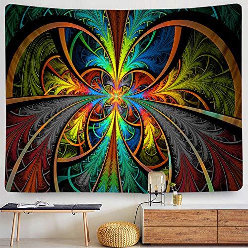 Pintura al óleo psicodélica Tapiz de Setas Bohemia Sol Flor Pulpo Colgante de Pared Sala de Estar Cama hogar al por Mayor Paquete Postal-Azul_Los 230x180cm