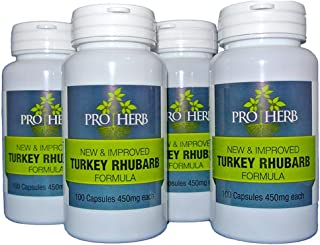 Pro Herb, Turkey Rhubarb 450mg, 100 Capsules (4 PACK) (4)
