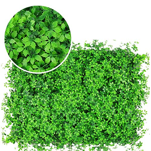 DLSMB Artificial Hedges Panels 12 Pieces Artificial Boxwood Panels Topiary Hedge Plants Privacy Screen UV Protected Suitable For Both Outdoor Or Indoor Use for Home Garden Backyard Wedding