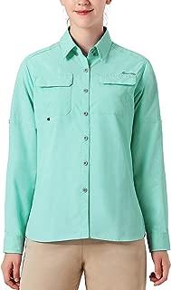 NAVISKIN Women's UPF 50+ Sun Protection Outdoor Long Sleeve Shirt Lightweight Quick-Dry Cooling Fishing Shirts