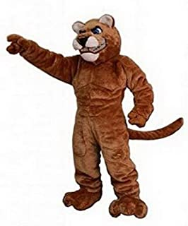 Deluxe Power Cat Cougar Mascot Costume Adult Size Unisex