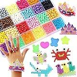 Abalorios Cuentas de Agua 4000 Perlas Kit Abalorios 24 Colors(6 Jewel) Niños DIY Educativos Artesanía Craft Kits