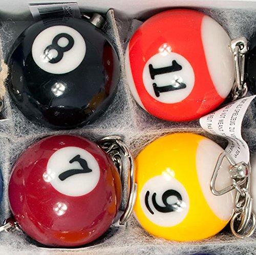 Diverse 16 x Schlüsselanhänger Schlüssel Billardkugel Billardkugeln Billard Kugel