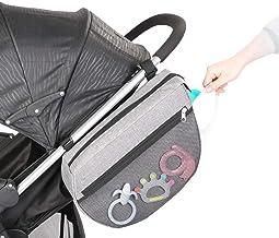 auvstar Kinderwagen Organizer,Buggy Kinderwagentasche, Universale Baby Aufbewahrungstasche mit Reißverschluss Großer Stauraum,Großer Stauraum Buggy Organizer für Spielzeug Seitentasche