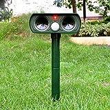 Anilley Repulsif Ultrason Chat Solaire,Répulsif Chat Exterieur avec Haut-parleurs et Lumière LED,Etanche Répulsive Chien, Anti Chats,Renards,Oiseau,Chiens Protecteur de Jardin