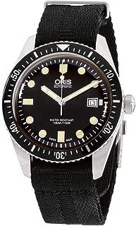 Divers Sixty-Five Black Dial Canvas Strap Men's Watch 73377204054TSBLK