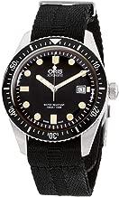 Oris Divers Sixty-Five Black Dial Canvas Strap Men's Watch 73377204054TSBLK