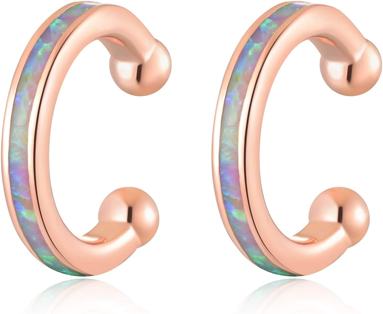CiNily Ear Credence Cuffs for It is very popular Women Opal G Hoop Small Earrings Huggie 14K