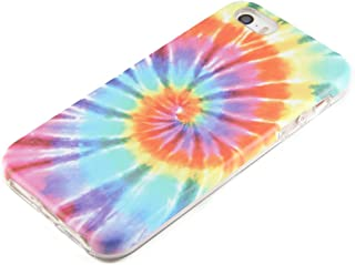 uCOLOR Tie Dye Compatible for iPhone SE 5S 5 Protective case for Girls Hard PC + Soft TPU Tough Case for iPhone SE 5S 5