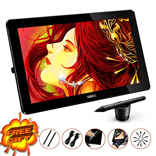 Ugee HK1560 15.6 Inches IPS Screen 19201080 HD Resolution Drawing Monitor Interactive Pen Display with 1 PC Screen Protector