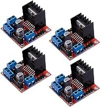 Qunqi 4Packs L298N Dual H Bridge Stepper Motor Drive Controller Board Module for Arduino Smart Car