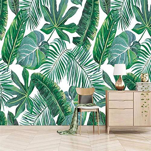 Papel Pintado Pared Autoadhesivo Fotomurales 368 x 256 cm 200g/m2 - hojas marrones - Papel pintado tejido no tejido Decoración de Pared Murales Moderno