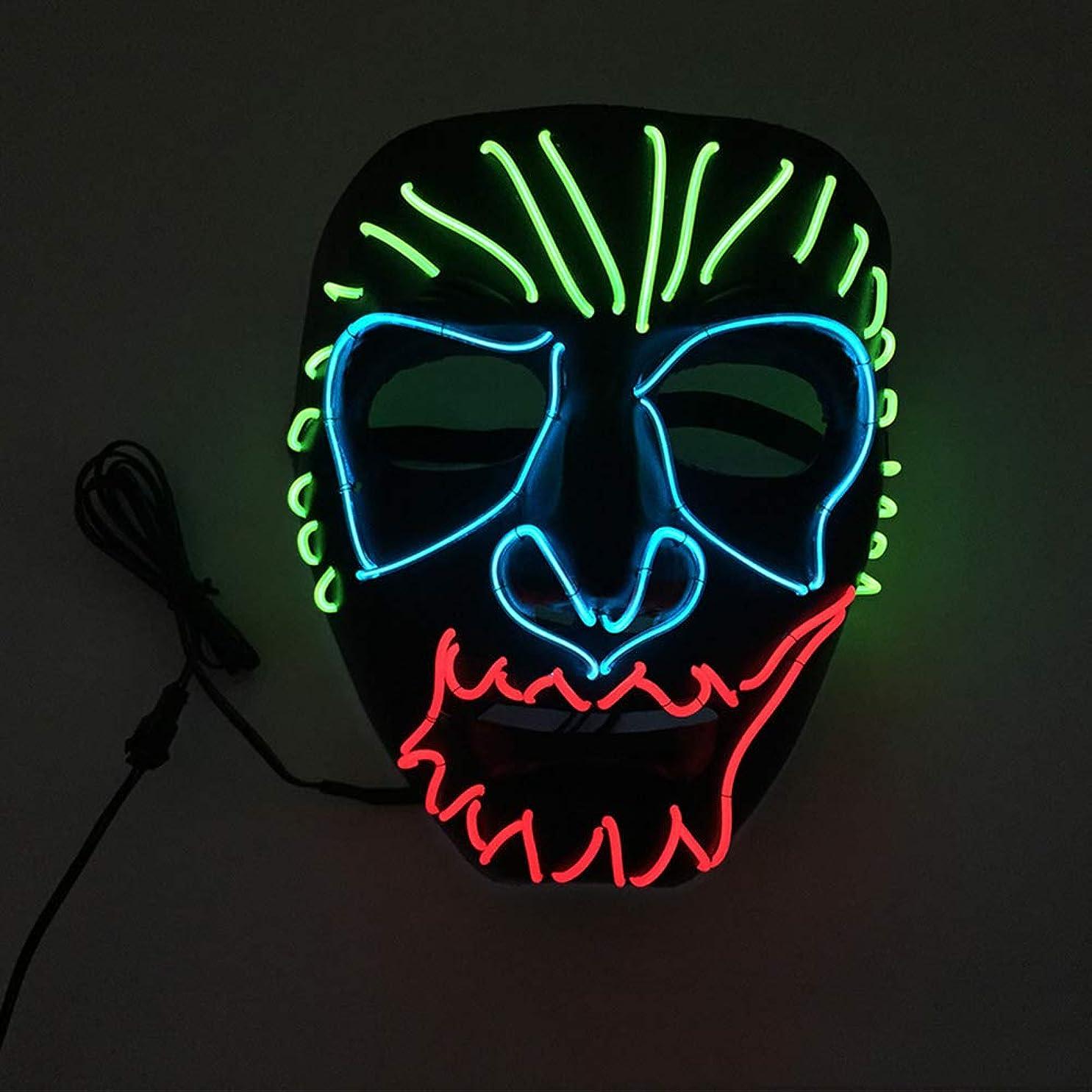合併症お父さん有料ハロウィン イーグルキング クール テロ LED マスク コスプレ 化粧 プロム パーティー イルミネーション マスク (18×18Cm) MAG.AL