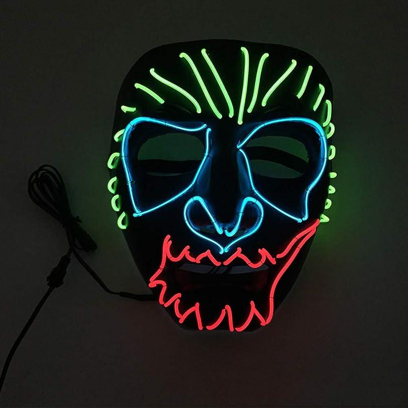 厚さ無法者インタビューハロウィン イーグルキング クール テロ LED マスク コスプレ 化粧 プロム パーティー イルミネーション マスク (18×18Cm) MAG.AL