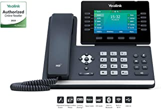 $259 » Yealink T54W IP Phone, 16 VoIP Accounts. 4.3-Inch Color Display. Adjustable Screen With Built-in USB 2.0, 802.11ac Wi-Fi, Dual-Port Gigabit Ethernet, 802.3af PoE, Power Adapter Not Included (SIP-T54W)