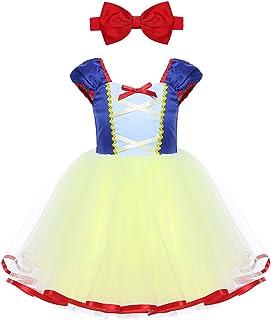 iEFiEL Vestido de Princesa para Bebé Niña (1-5 Años) Disfraz de Infantil Vestido de Fiesta Carnaval Actuación Ceremonia Cosplay