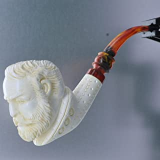 Meerschaum Proud 3 Star Civil War General Tobacco Pipe Full Bend by Paykoc M99050