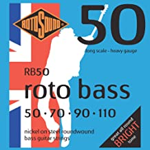 Rotosound RB50 Nickel (Unsilked) Bass Guitar Strings (50 70 90 110)